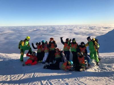 Tabara schi in Bucegi